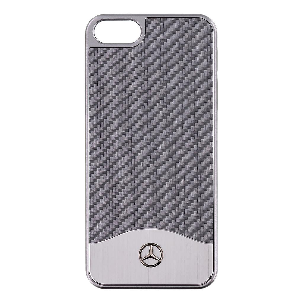 Pouzdro / kryt pro Apple iPhone 5 / 5S / SE - Mercedes-Benz, Carbon Silver