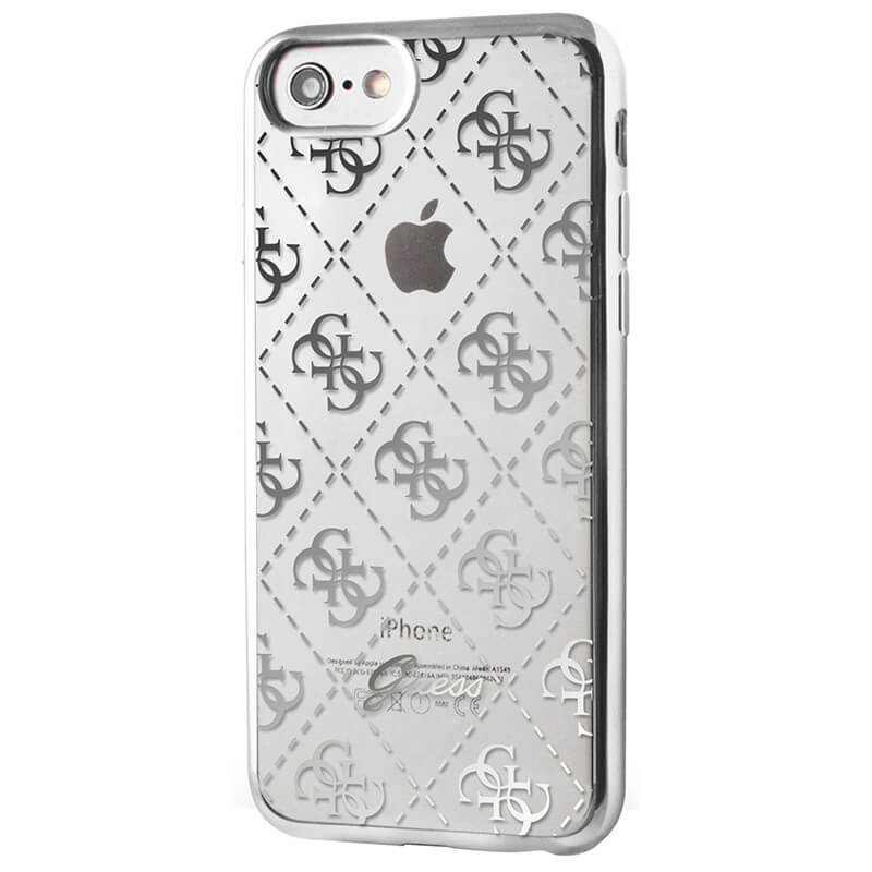 Pouzdro / kryt pro Apple iPhone 8 / 7 / 6S / 6 - Guess, 4G TPU Silver