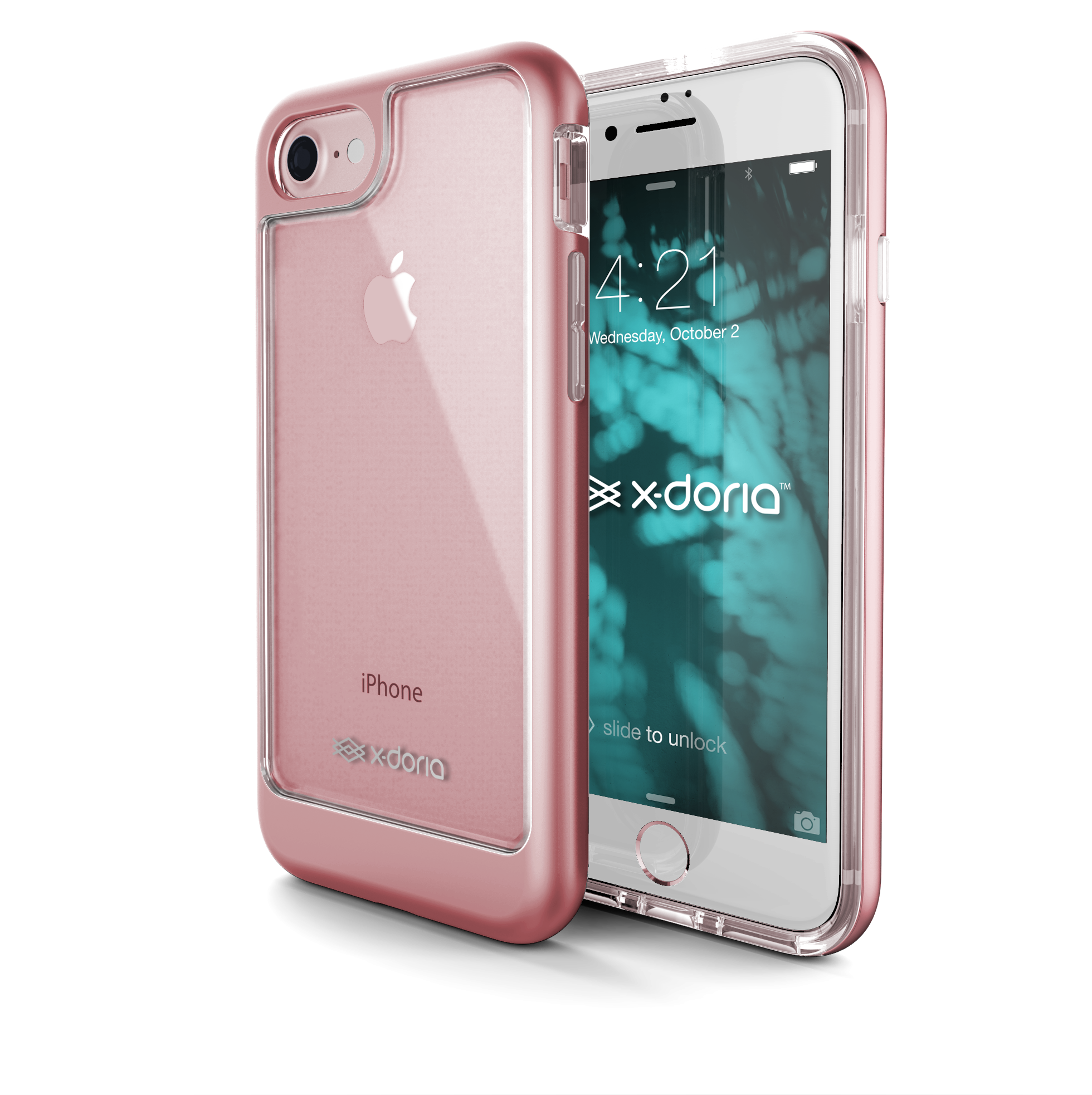 Pouzdro / kryt pro Apple iPhone 7 - X-DORIA, EVERVUE ROSE GOLD