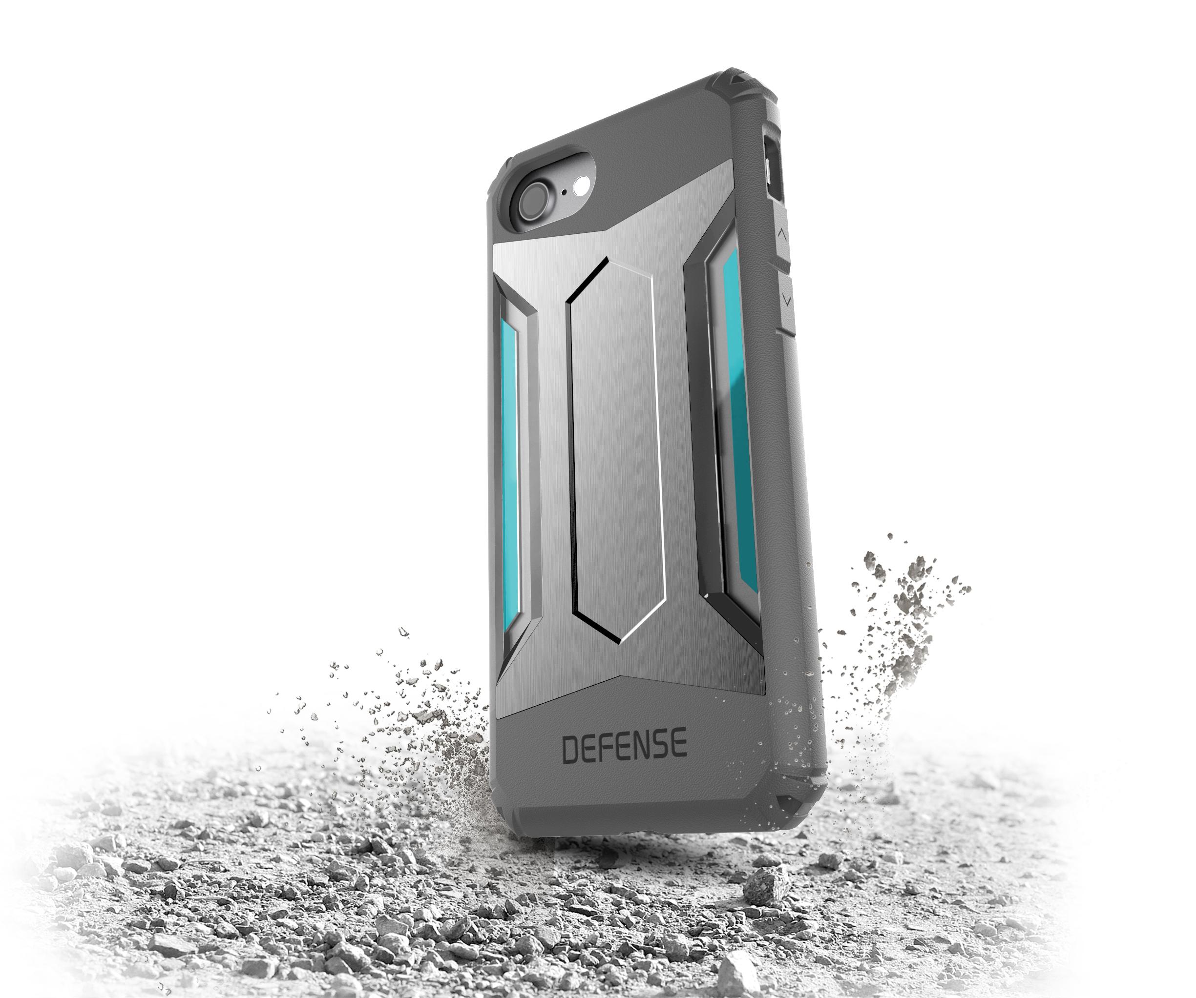Pouzdro / kryt pro Apple iPhone 7 - X-DORIA, DEFENSE GEAR SILVER
