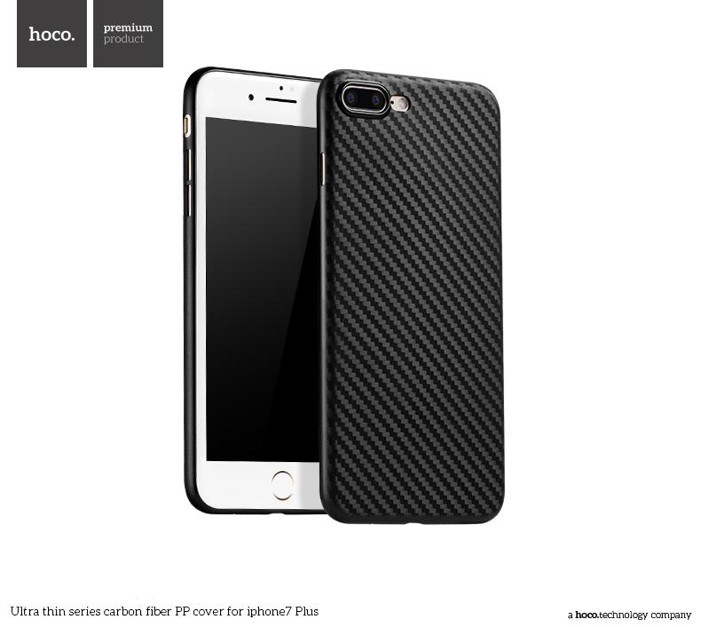 Pouzdro / kryt pro Apple iPhone 7 PLUS - Hoco, Carbon