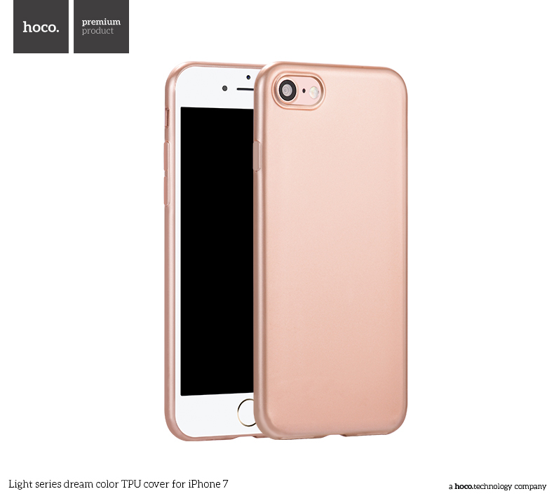 Pouzdro / kryt pro Apple iPhone 7 - Hoco, DreamColor Rose Gold