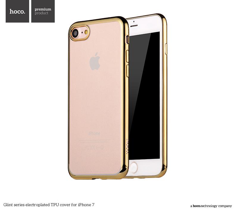Pouzdro / kryt pro Apple iPhone 7 - Hoco, Glint Gold