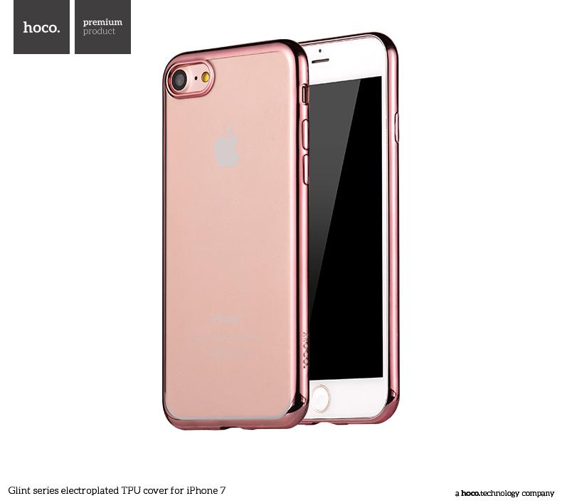 Pouzdro / kryt pro Apple iPhone 7 - Hoco, Glint Rose Gold