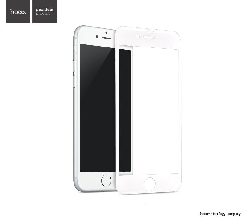 Ochranné tvrzené sklo na iPhone 7 - Hoco, Ghost 3D White