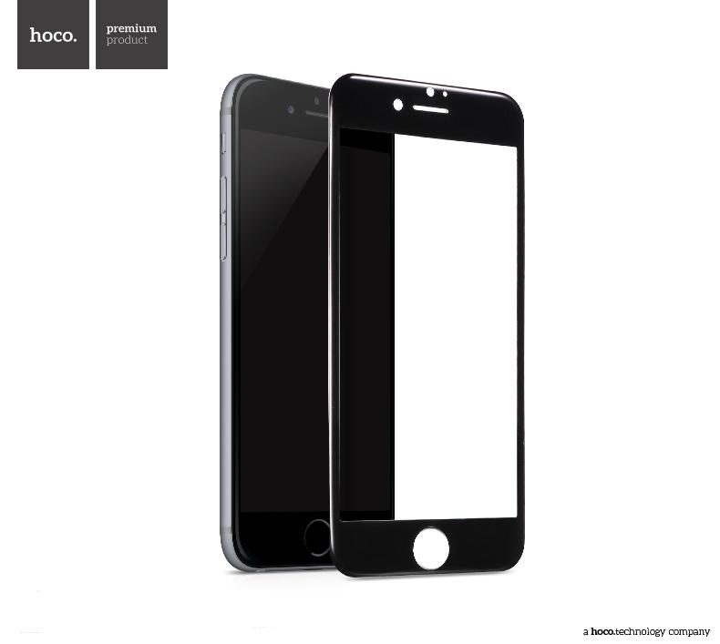 Ochranné tvrzené sklo na iPhone 7 PLUS - Hoco, Ghost 3D Black