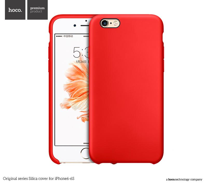 Pouzdro / kryt pro Apple iPhone 6 / 6S - Hoco, Silica Red