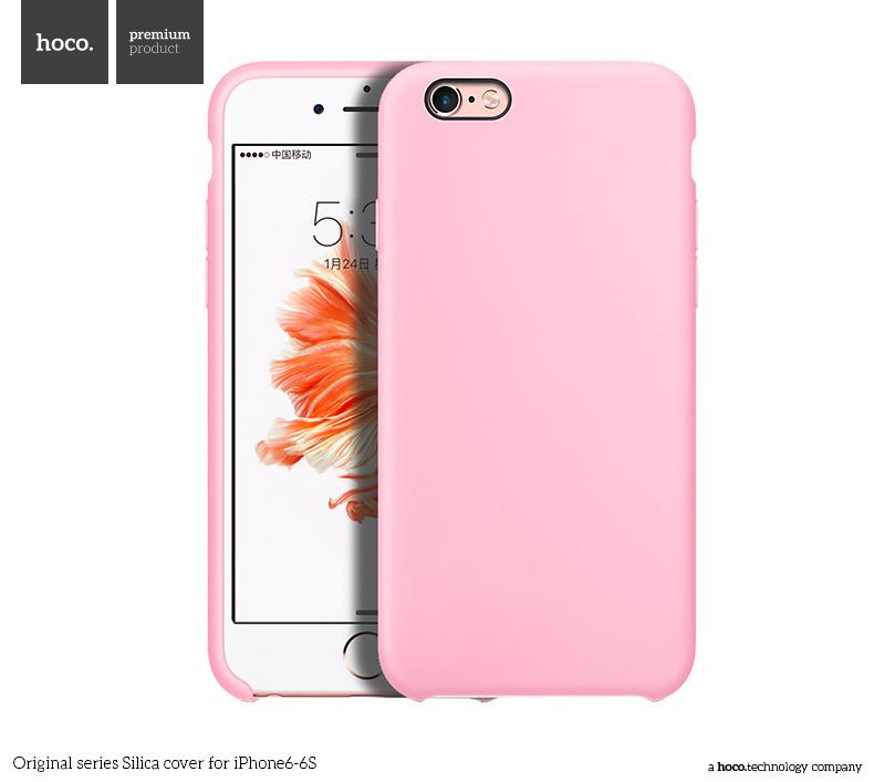 Pouzdro / kryt pro Apple iPhone 6 / 6S - Hoco, Silica Pink