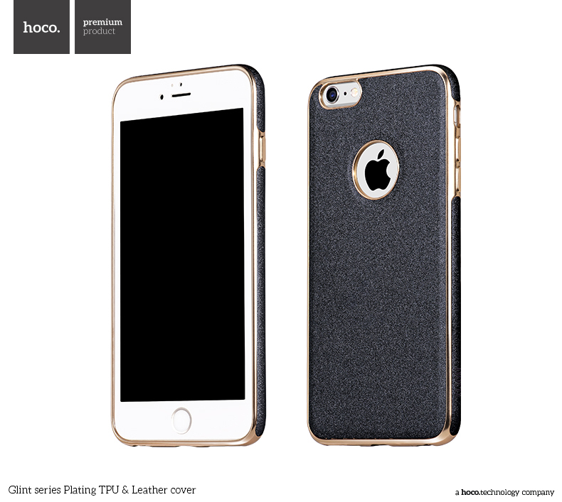 Pouzdro / kryt pro Apple iPhone 6 / 6S - Hoco, GlintLeather Gray