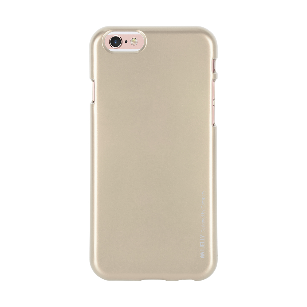 Pouzdro / kryt pro Apple iPhone 6 / 6S - Mercury, i-Jelly Gold