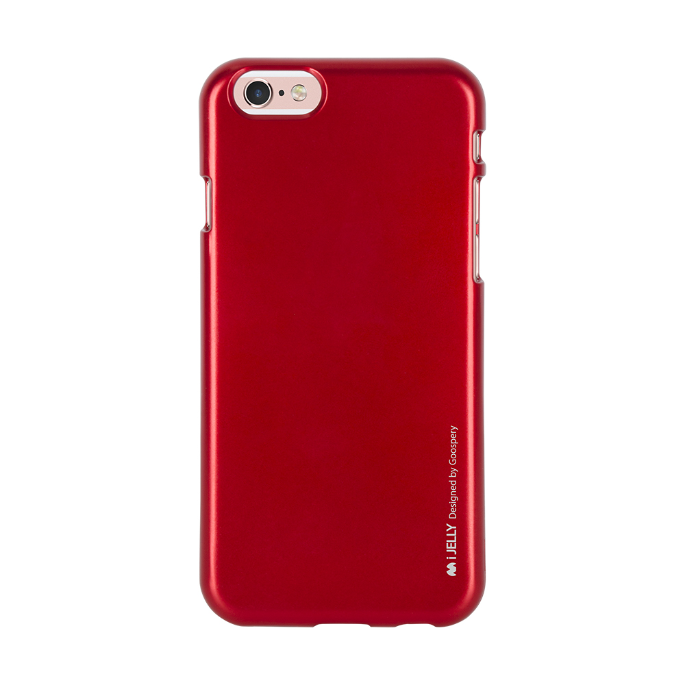 Pouzdro / kryt pro Apple iPhone 6 / 6S - Mercury, i-Jelly Red
