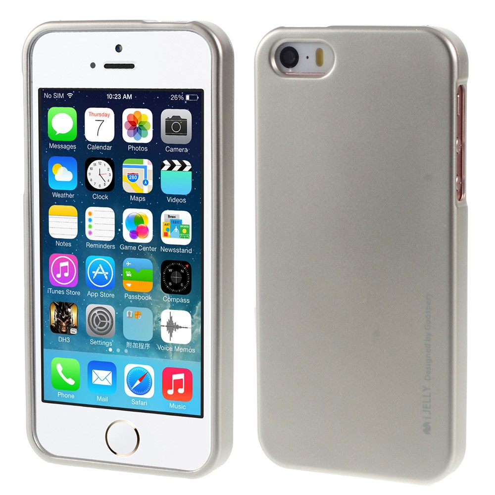 Pouzdro / kryt pro Apple iPhone 5 / 5S / SE - Mercury, i-Jelly Champagne Gold