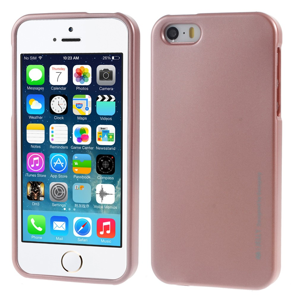 Pouzdro / kryt pro Apple iPhone 5 / 5S / SE - Mercury, i-Jelly Rose Gold