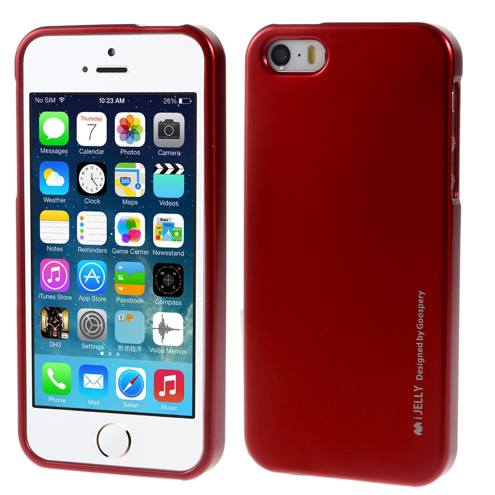 Pouzdro / kryt pro Apple iPhone 5 / 5S / SE - Mercury, i-Jelly Red