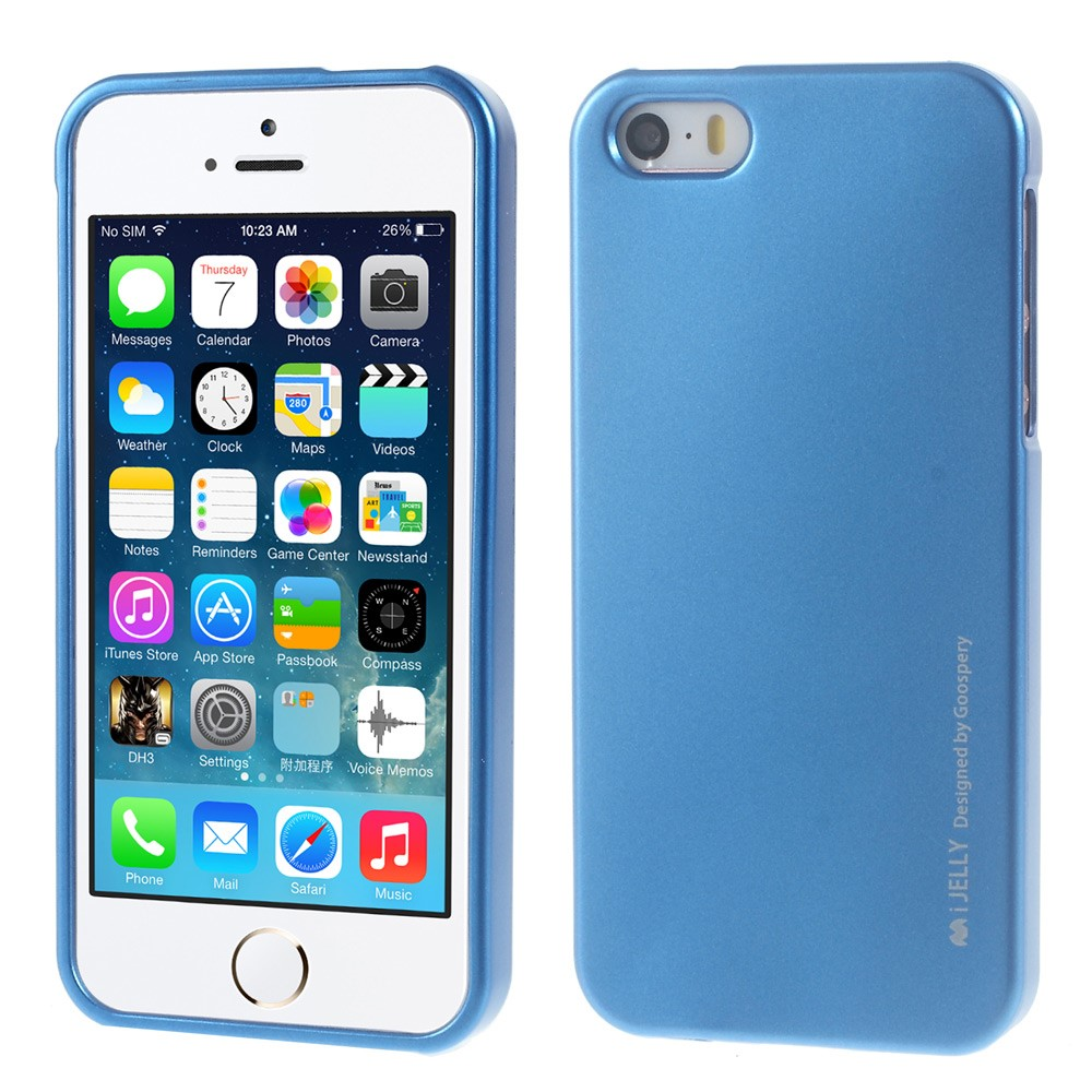 Pouzdro / kryt pro Apple iPhone 5 / 5S / SE - Mercury, i-Jelly Blue