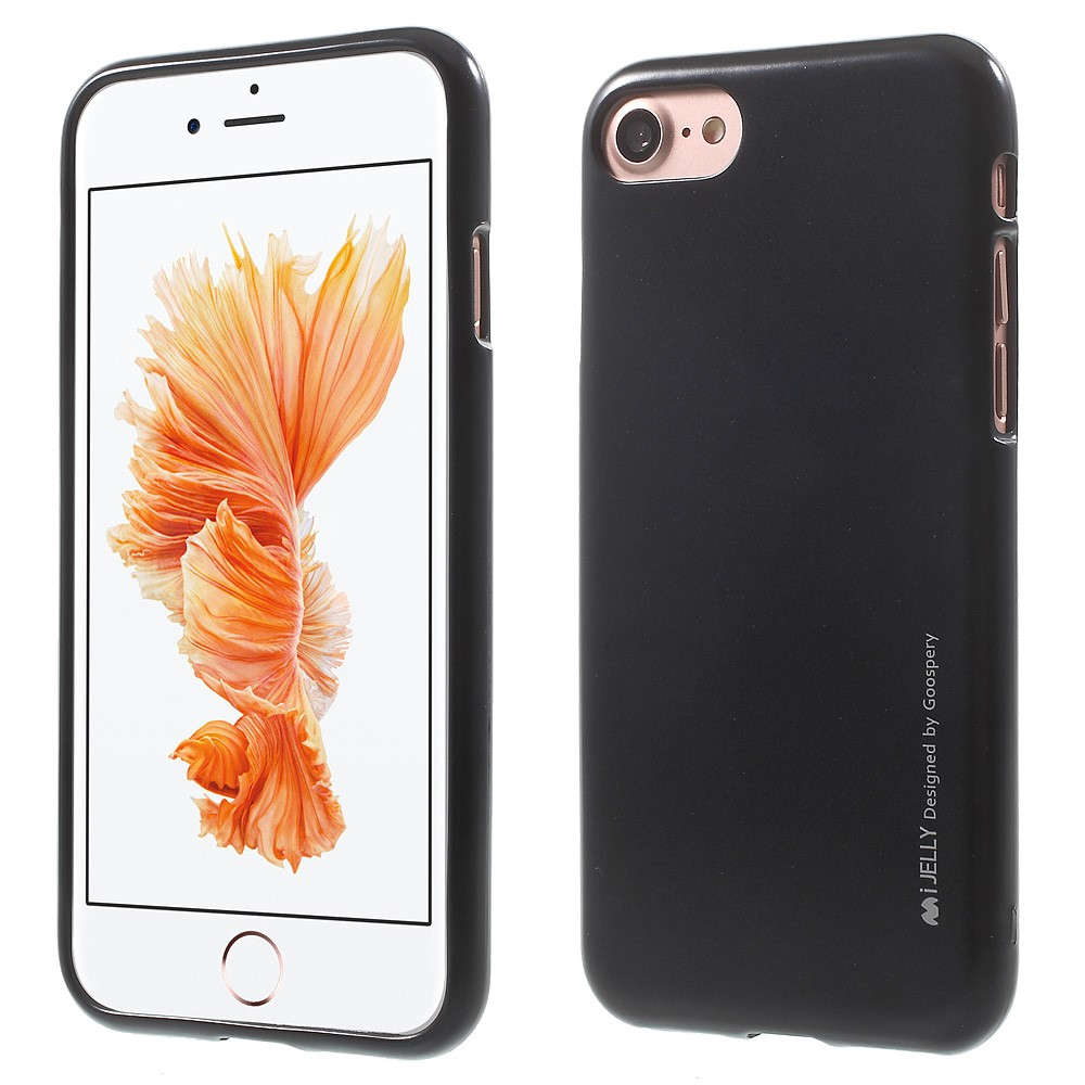 Pouzdro / kryt pro Apple iPhone 7 / 8 - Mercury, i-Jelly Black