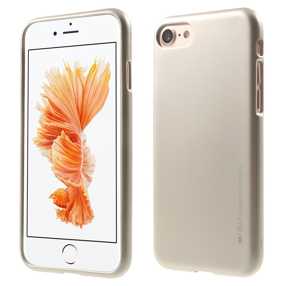 Pouzdro / kryt pro Apple iPhone 7 / 8 - Mercury, i-Jelly Gold