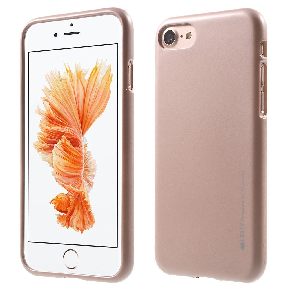 Pouzdro / kryt pro Apple iPhone 7 / 8 - Mercury, i-Jelly Rose Gold