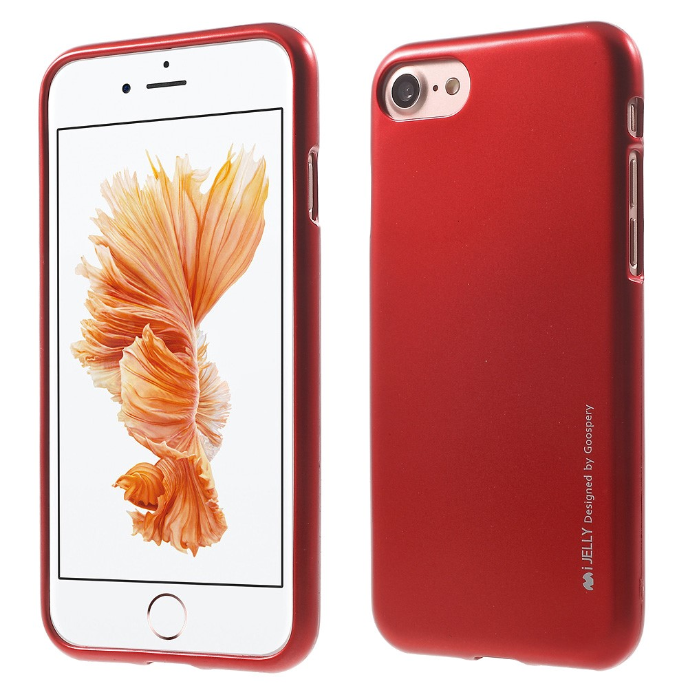 Pouzdro / kryt pro Apple iPhone 7 / 8 - Mercury, i-Jelly Red