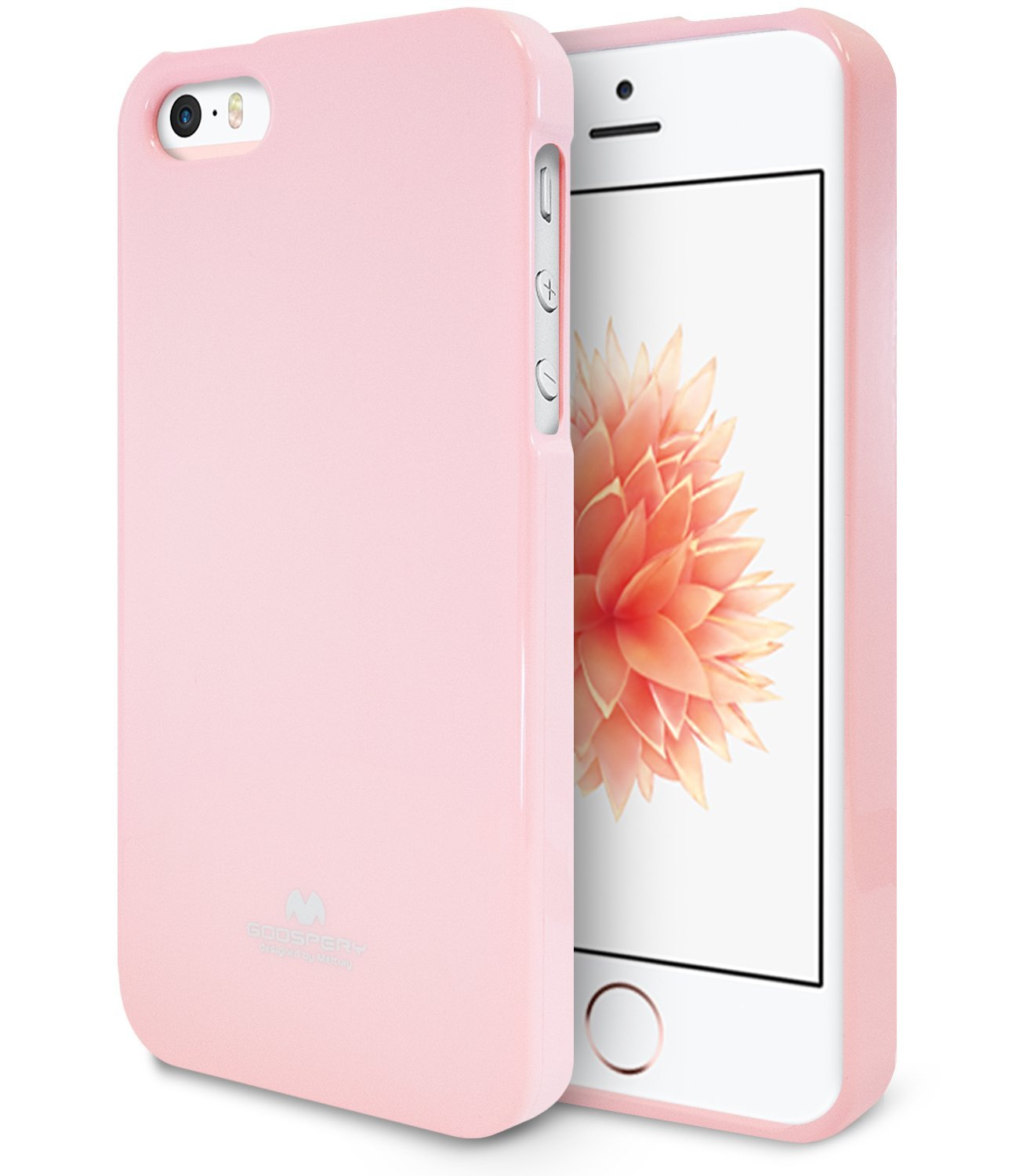 Pouzdro / kryt pro Apple iPhone 5 / 5S / SE - Mercury, Jelly Case Pink