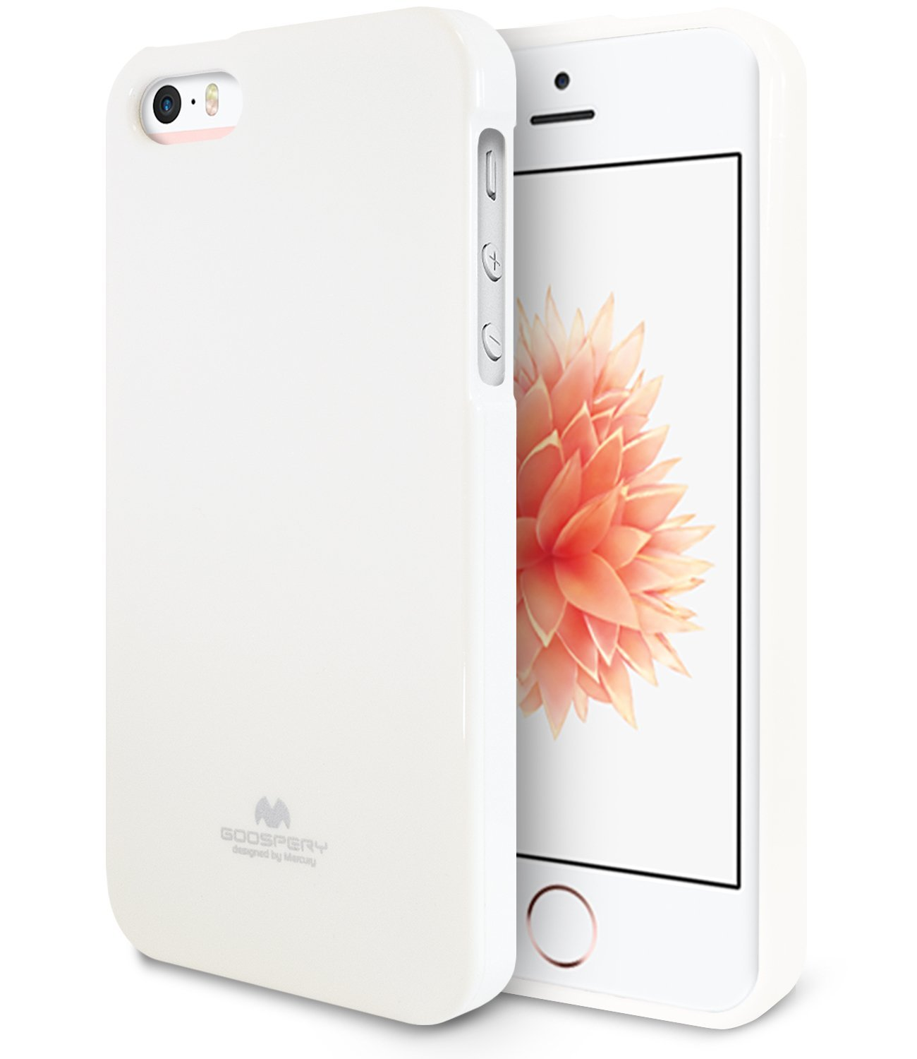 Pouzdro / kryt pro Apple iPhone 5 / 5S / SE - Mercury, Jelly Case White