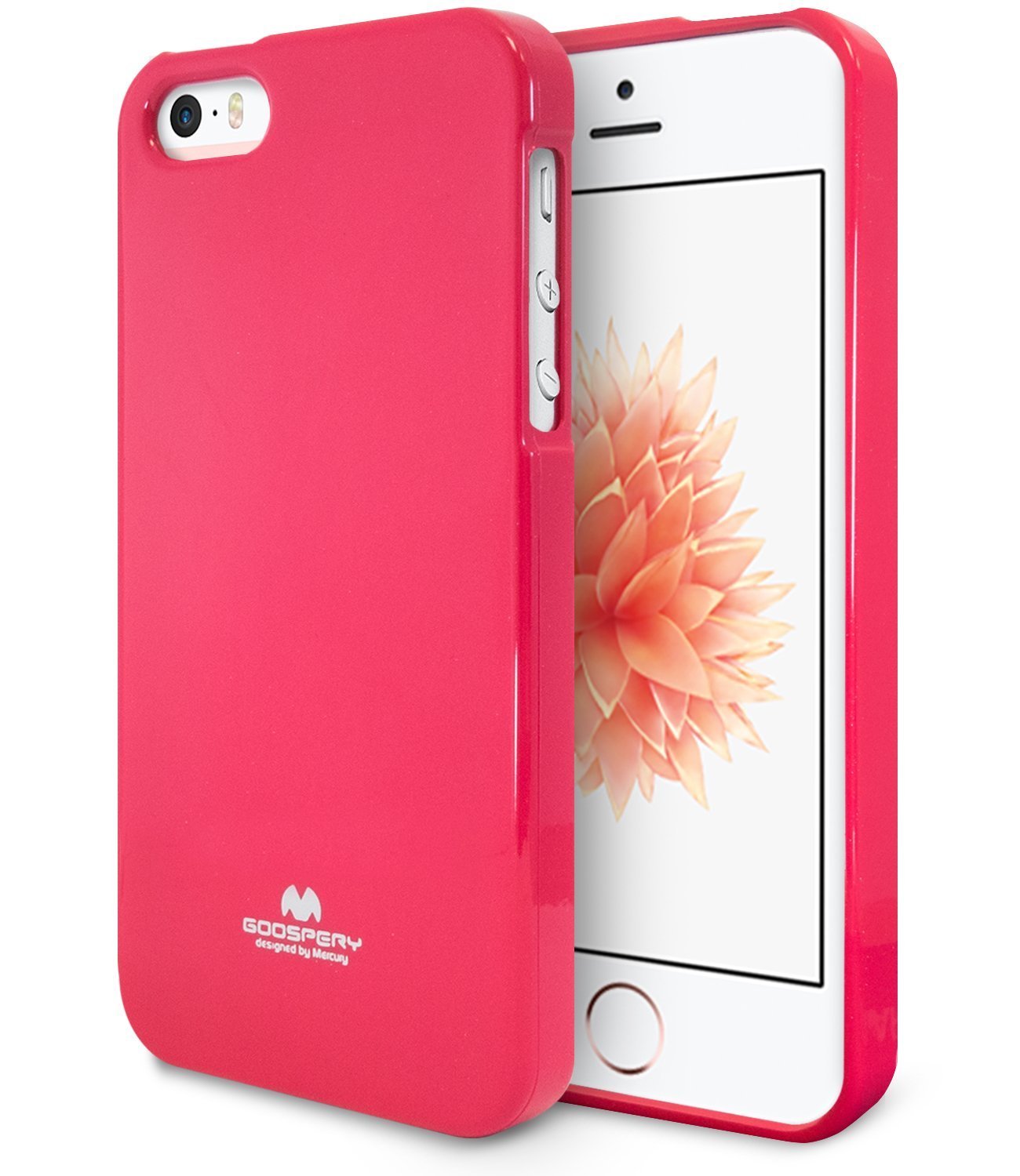 Pouzdro / kryt pro Apple iPhone 5 / 5S / SE - Mercury, Jelly Case Hotpink
