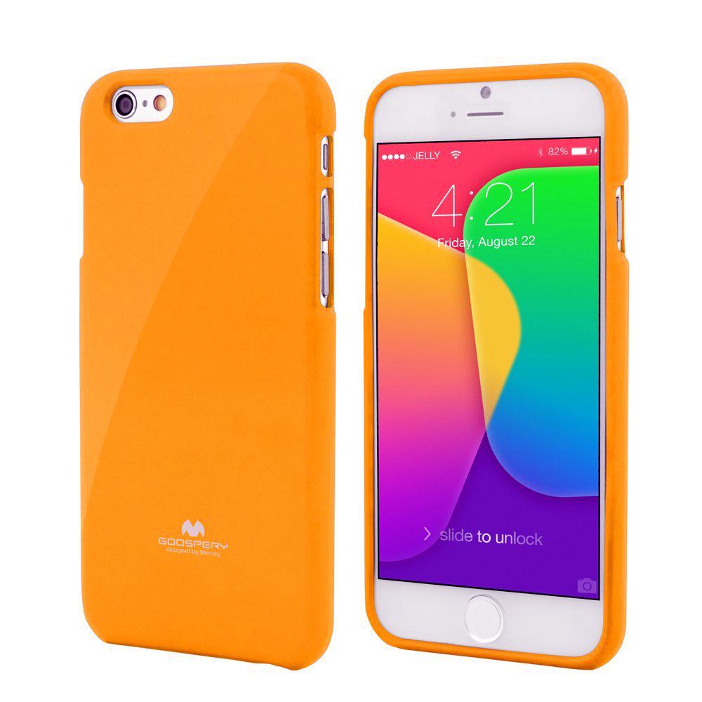 Pouzdro / kryt pro Apple iPhone 7 - Mercury, Jelly Case Yellow