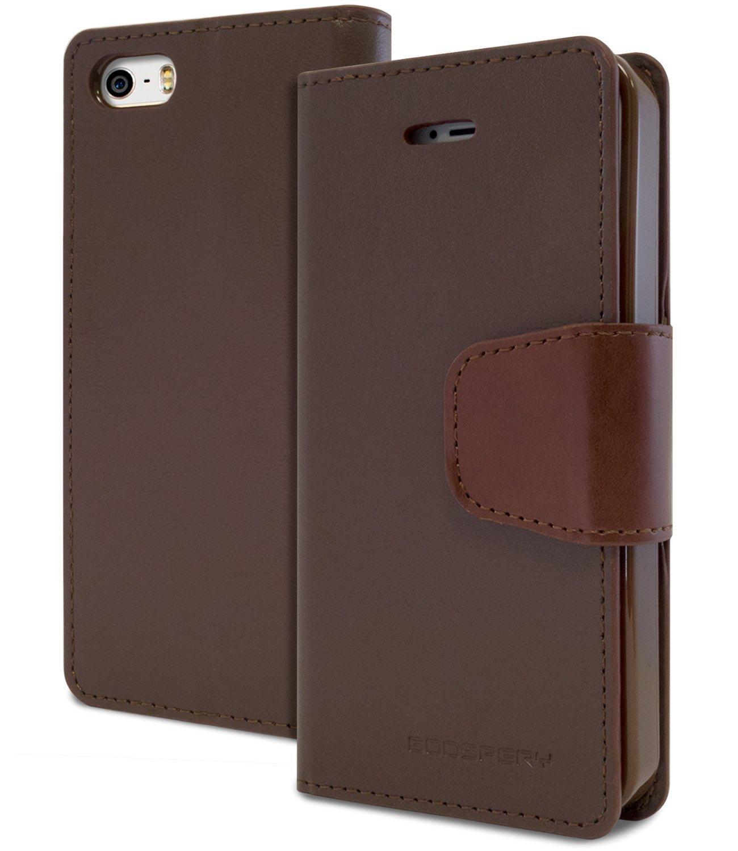 Pouzdro / kryt pro Apple iPhone 5 / 5S / SE - Mercury, Sonata Diary Brown