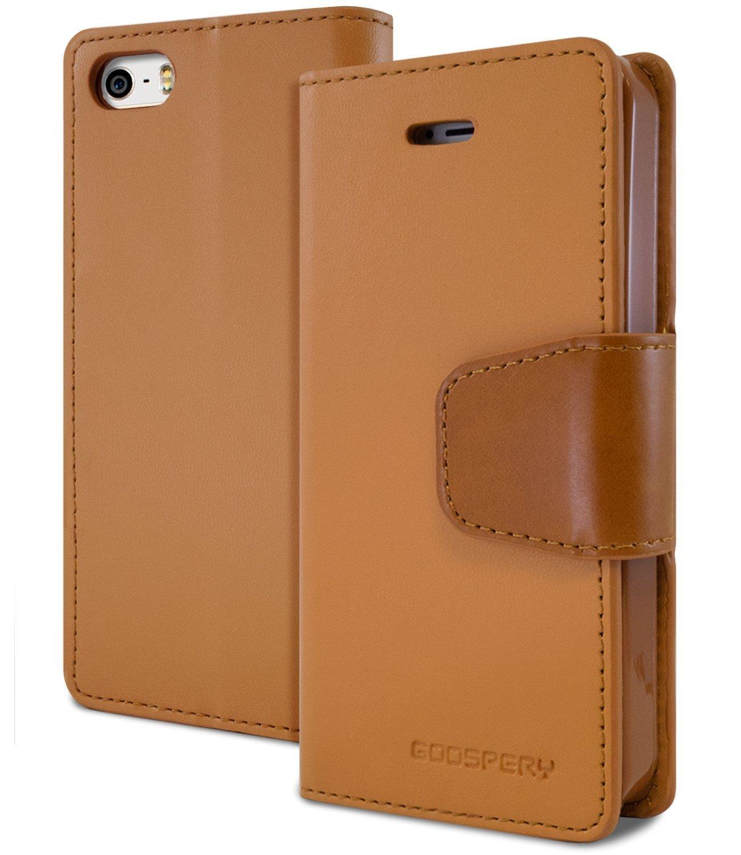 Pouzdro / kryt pro Apple iPhone 5 / 5S / SE - Mercury, Sonata Diary Camel