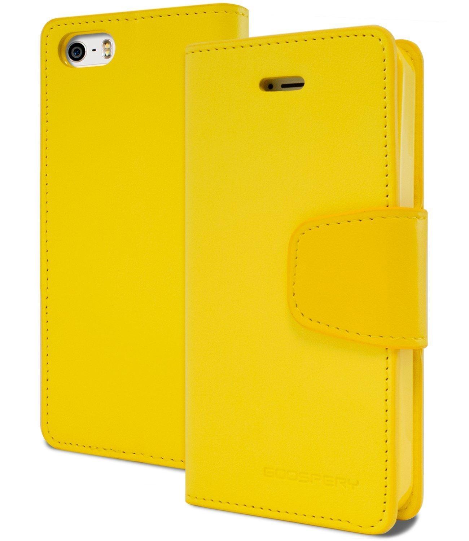 Pouzdro / kryt pro Apple iPhone 5 / 5S / SE - Mercury, Sonata Diary Yellow