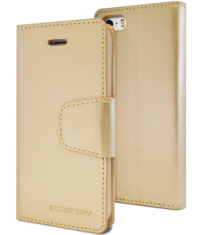 Pouzdro / kryt pro Apple iPhone 5 / 5S / SE - Mercury, Sonata Diary Gold