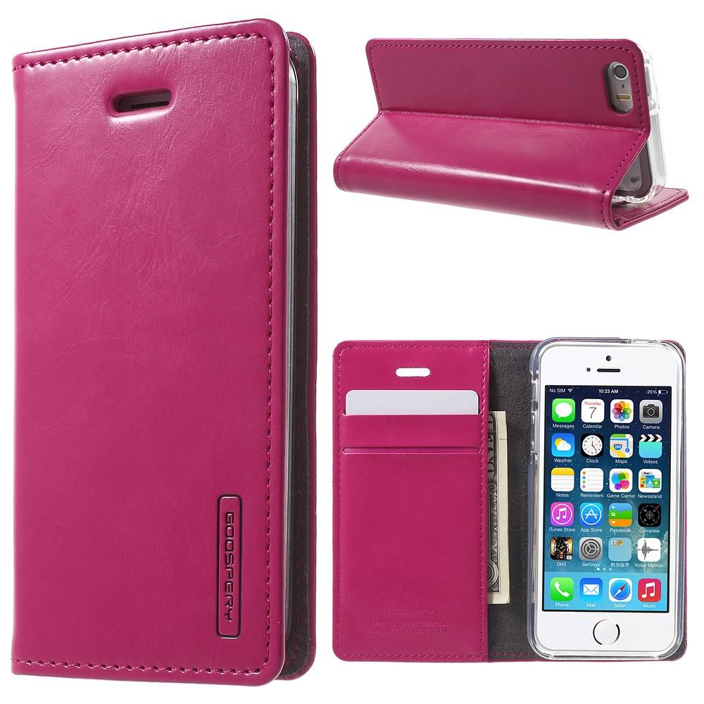 Pouzdro / kryt pro Apple iPhone 5 / 5S / SE - Mercury, Bluemoon Flip Hotpink