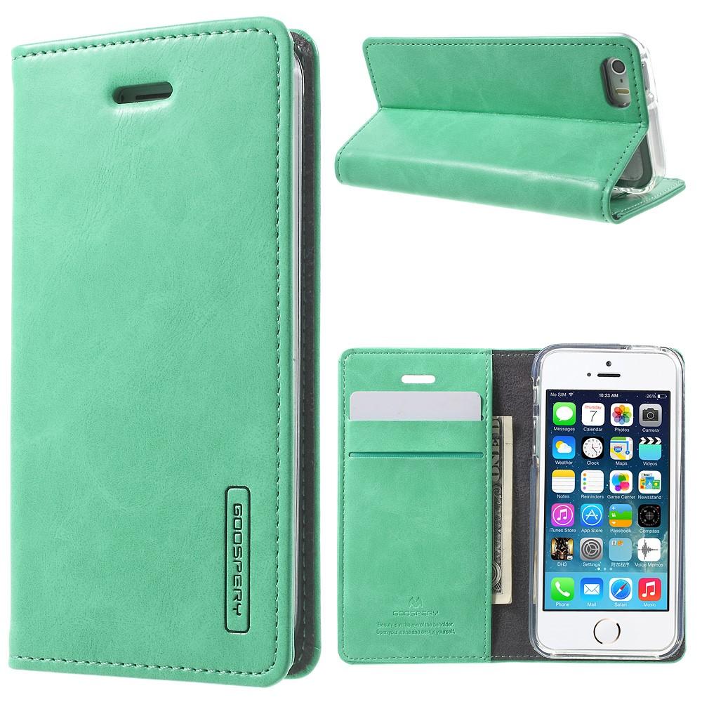Pouzdro / kryt pro Apple iPhone 5 / 5S / SE - Mercury, Bluemoon Flip Mint
