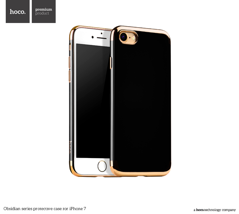 Pouzdro / kryt pro Apple iPhone 7 / 8 - Hoco, Obsidian Gold
