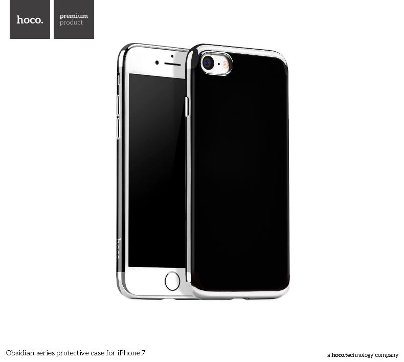 Pouzdro / kryt pro Apple iPhone 7 - Hoco, Obsidian Silver