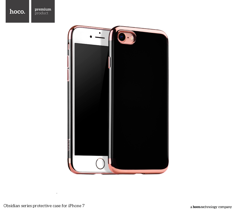 Pouzdro / kryt pro Apple iPhone 7 / 8 - Hoco, Obsidian Rose Gold