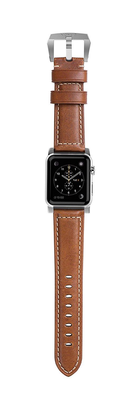 Kožený pásek / řemínek pro Apple Watch 42mm - Nomad, Horween Leather Strap Traditional Silver