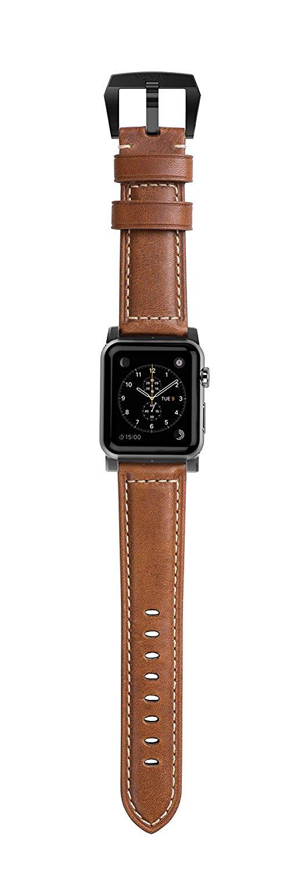 Kožený pásek / řemínek pro Apple Watch 42mm - Nomad, Horween Leather Strap Traditional Black