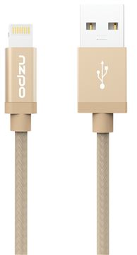 Certifikovaný kabel lightning pro iPhone a iPad - Odzu, Durable Braided Gold