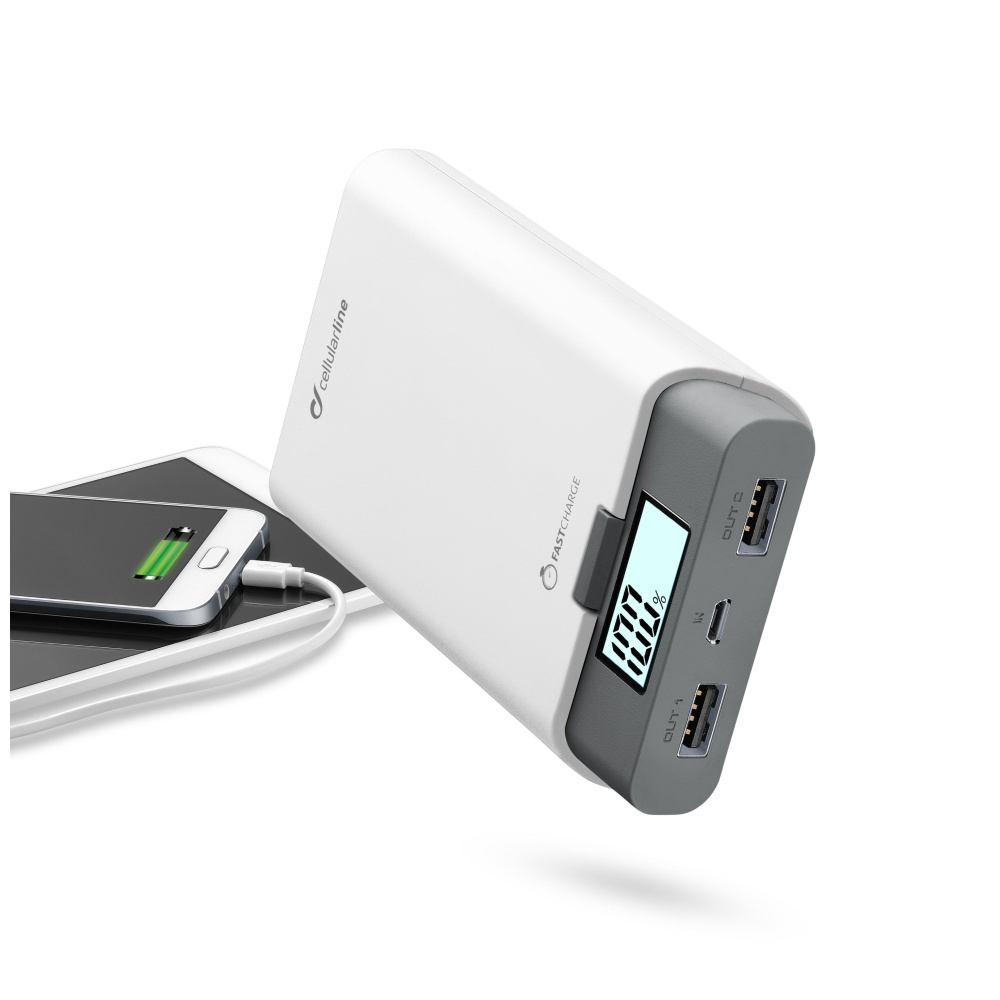Externí baterie pro iPhone a iPad - CellularLine, FREEPOWER 10000mAh WHITE