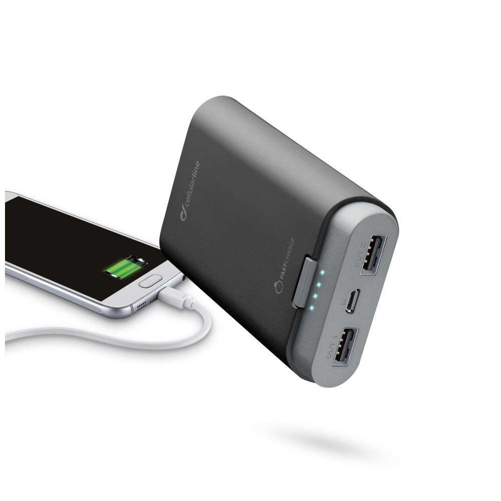 Externí baterie pro iPhone a iPad - CellularLine, FREEPOWER 7800mAh BLACK