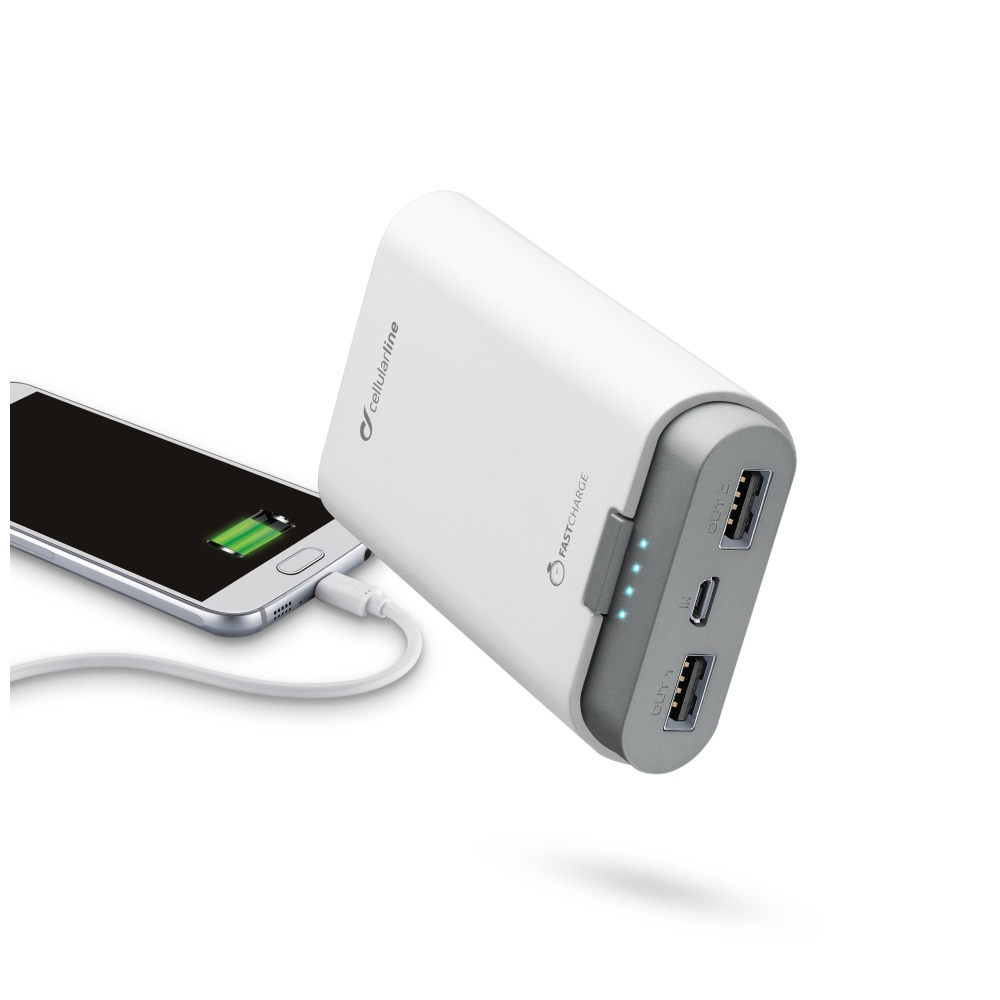 Externí baterie pro iPhone a iPad - CellularLine, FREEPOWER 7800mAh WHITE