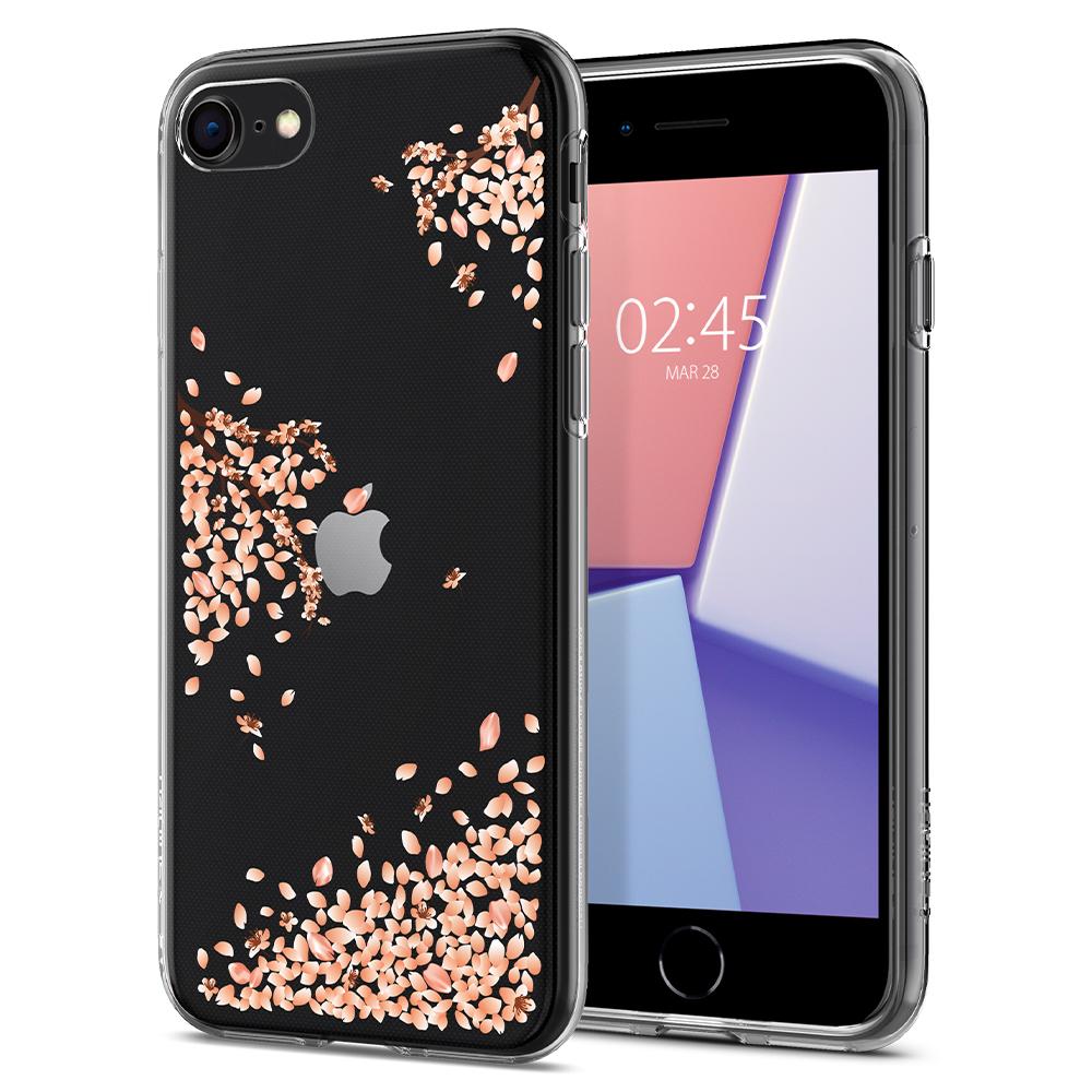 Pouzdro / kryt pro Apple iPhone 7 / 8 - Spigen, Liquid Shine Blossom