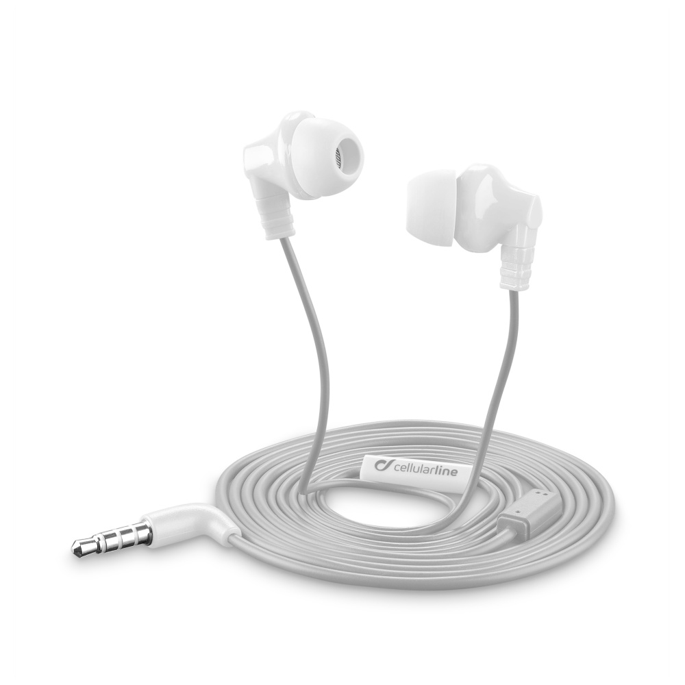 Sluchátka pro iPhone a iPad - CellularLine, CRICKET White