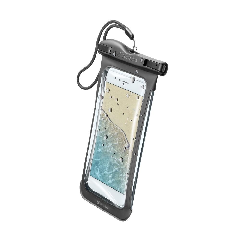 Voděodolné pouzdro pro iPhone - Cellularline, VOYAGER Black
