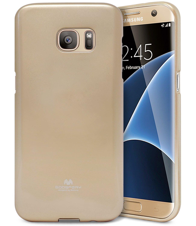 Pouzdro / kryt pro Samsung Galaxy S7 EDGE - Mercury, Jelly Gold