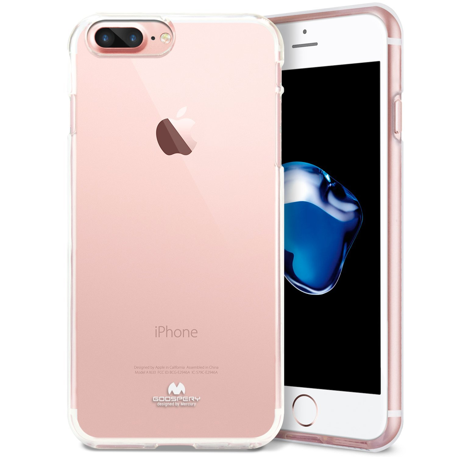 Pouzdro / kryt pro Apple iPhone 7 PLUS / 8 PLUS - Mercury, Jelly Transparent