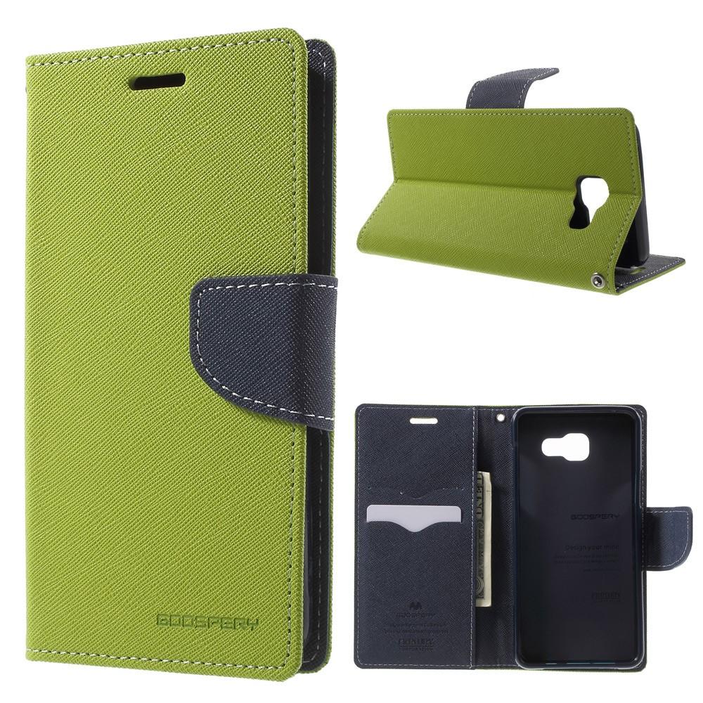 Pouzdro / kryt pro Samsung GALAXY A5 (2016) A510 - Mercury, Fancy Diary Lime/Navy