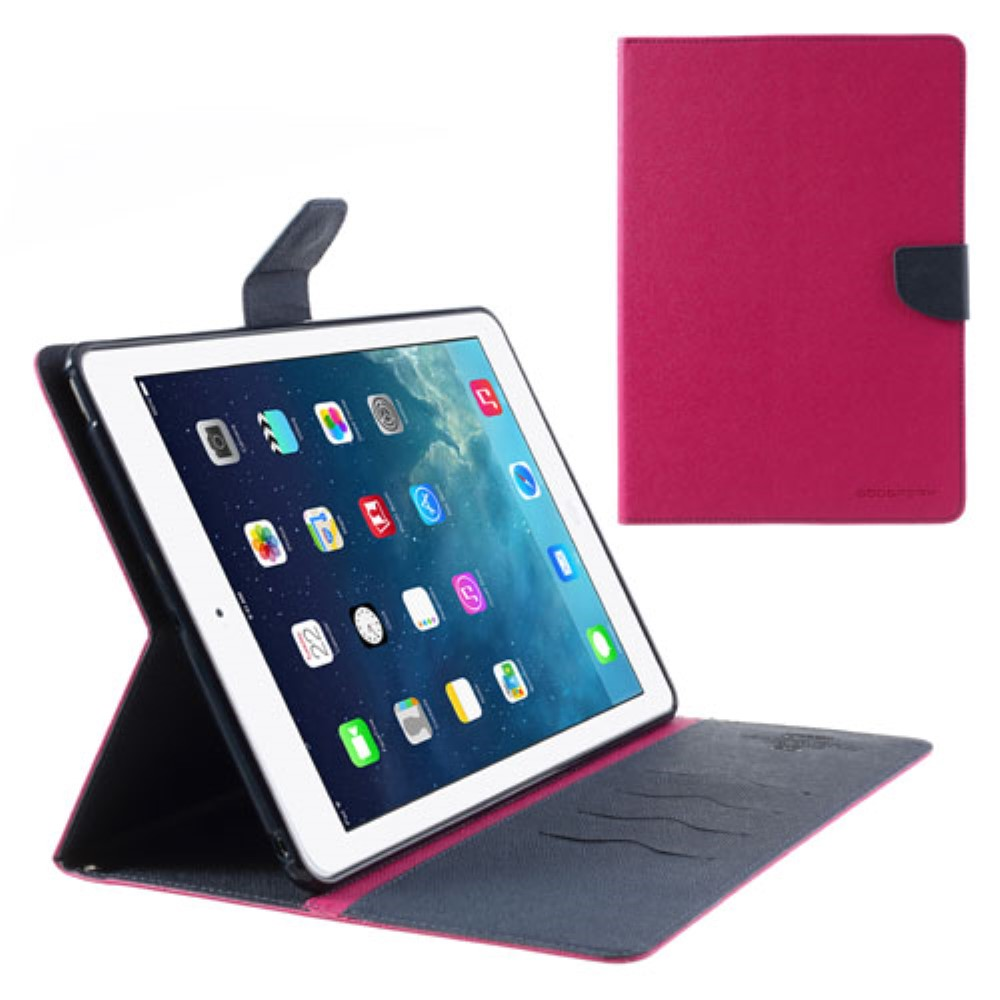 Pouzdro / kryt pro Apple iPad Air 1 - Mercury, Fancy Diary Hotpink/Navy