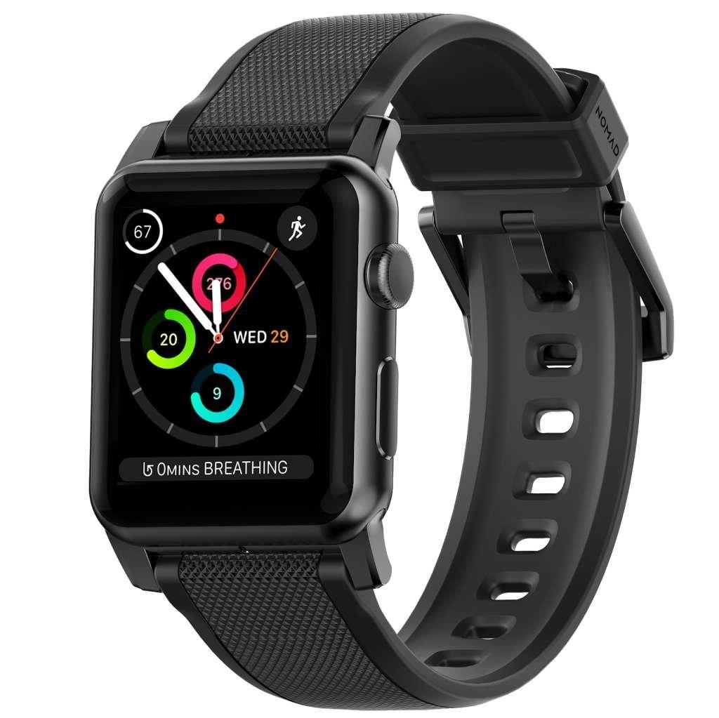 Gumový pásek / řemínek pro Apple Watch 42mm - Nomad, Silicone Strap Black